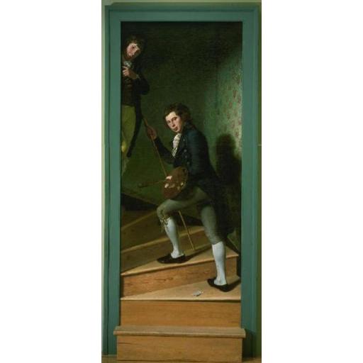 """Portraits  """" à la fenêtre """" - Page 6 Peale_charles_wilson_-_staircase_group_-_philadelphia_museum_of_art"""