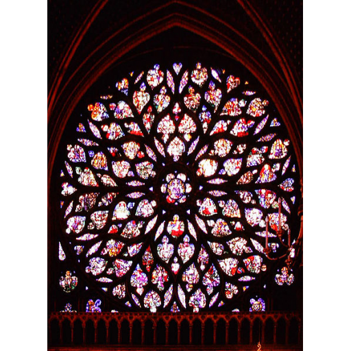 Rose window la sainte chapelle aka the holy chapel for Rose window design